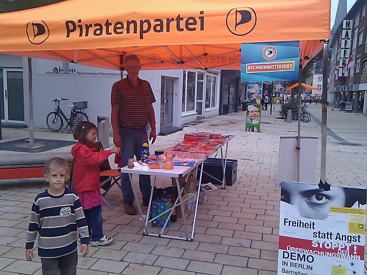 Infostand Wesel, 7.9.2013